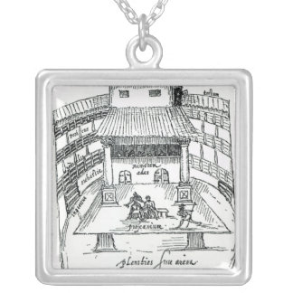The Swan Theatre, Southwark Silver Plated Necklace