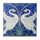 The Swans by Walter Crane Small Square Tile