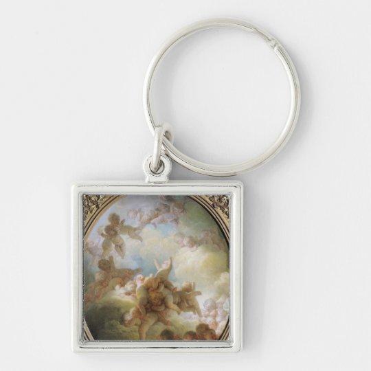 The Swarm of Cupids, c.1767 Keychain