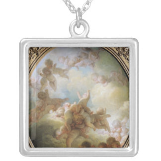 The Swarm of Cupids, c.1767 Silver Plated Necklace