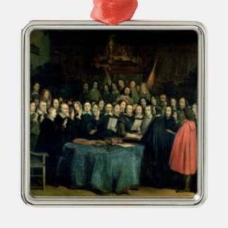 The Swearing of the Oath of Ratification Metal Ornament