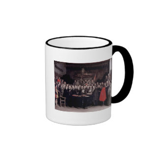The Swearing of the Oath of Ratification Ringer Coffee Mug