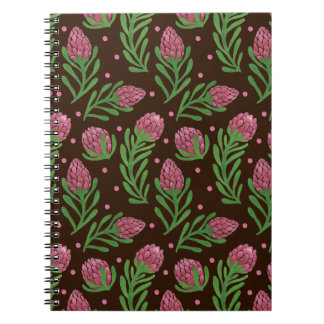 The Sweet Protea Pattern on Note Book Illustration by Haidi Shabrina