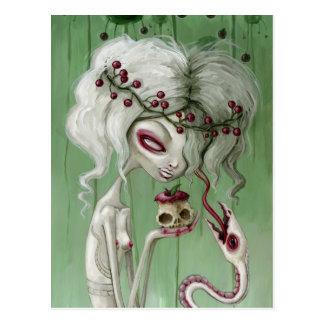 The sweet taste of death postcard