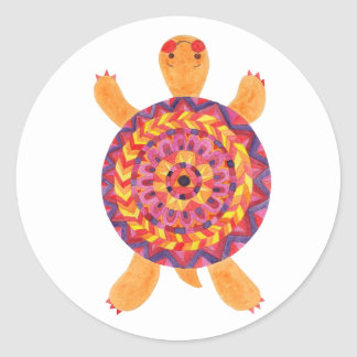 The Sweet Turtle Classic Round Sticker