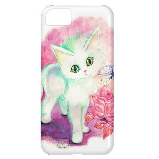 The Sweet White Angel Kitten Cover For iPhone 5C