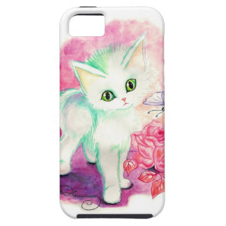 The Sweet White Angel Kitten iPhone 5 Covers