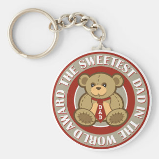 The Sweetest Dad in the World Award Keychain