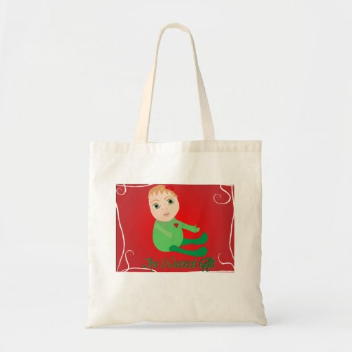 The Sweetest Gift - tote Canvas Bags
