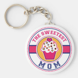 The Sweetest Mom Keychain