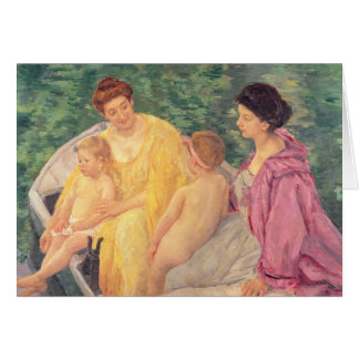 The Swim or Two Mothers & Their Children on a Card