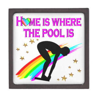 THE SWIMMER IS ALWAYS READY FOR THE POOL GIFT BOX