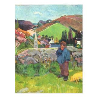 The Swineherd - Paul Gauguin Postcard