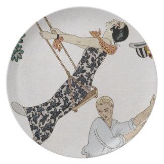 The Swing, 1920s Melamine Plate
