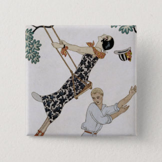 The Swing, 1920s Pinback Button