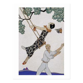 The Swing, 1920s Postcard