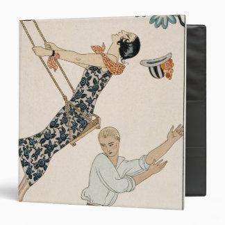 The Swing, 1923 (pochoir print) 3 Ring Binder