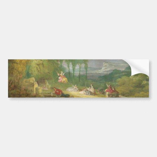 The Swing by Jean-Honore Fragonard Bumper Sticker