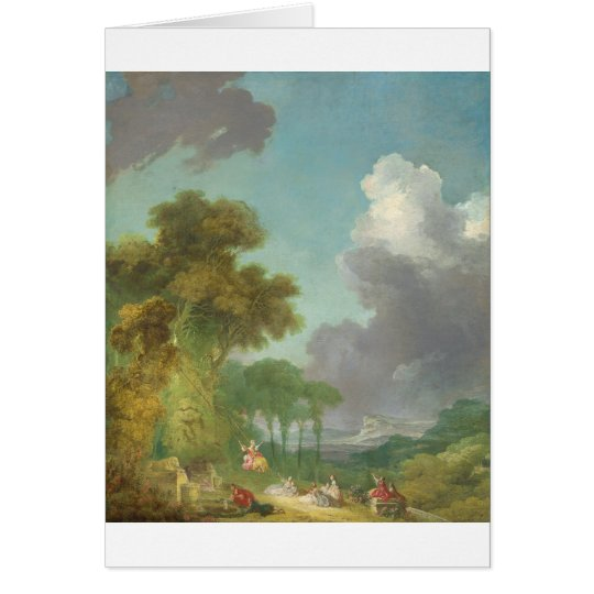 The Swing by Jean-Honore Fragonard Card