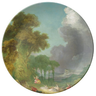 The Swing by Jean-Honore Fragonard Porcelain Plate
