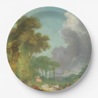 The Swing by Jean-Honore Fragonard 9 Inch Paper Plate