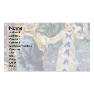 The Swing By Pierre-Auguste Renoir (Best Quality) Business Card