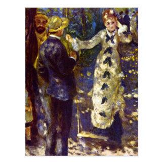 The Swing by Pierre Renoir Postcard