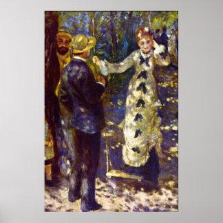 The Swing by Pierre Renoir Posters