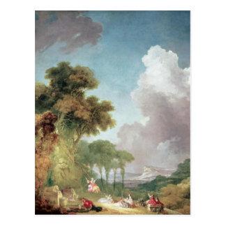The Swing, c.1765 Postcard