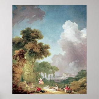 The Swing, c.1765 Print