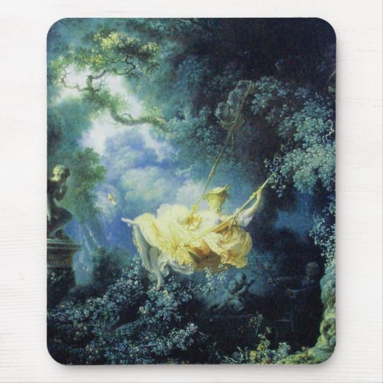 THE SWING  green blue yellow Mouse Pad