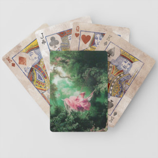 THE SWING ,green pink Bicycle Playing Cards