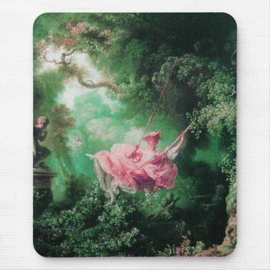THE SWING  green pink fuchsia Mouse Pad