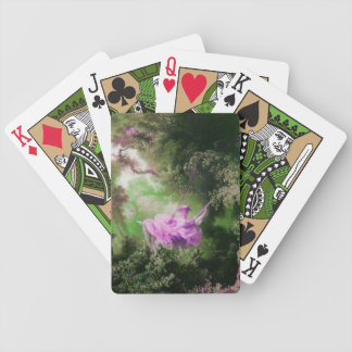 THE SWING ,green violet purple Bicycle Playing Cards