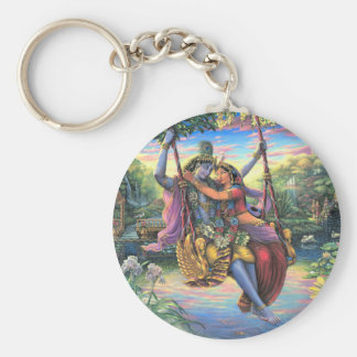 The Swing Pastime - Radha and Krishna Keychain