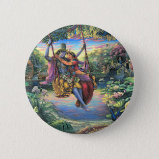 The Swing Pastime - Radha and Krishna Pinback Button