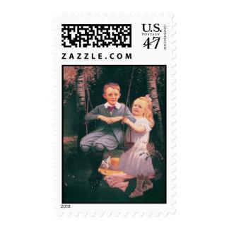 The Swing, Philip Richard P.R. Morris 1833-1902 Stamp
