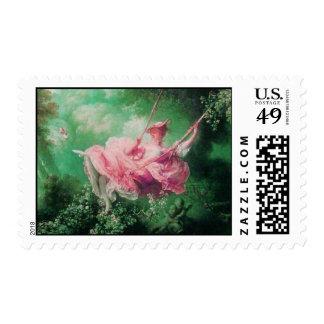 THE SWING , Pink  Fuchsia Green Postage