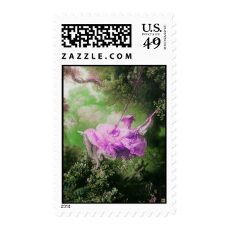 THE SWING , Pink Purple Green Postage