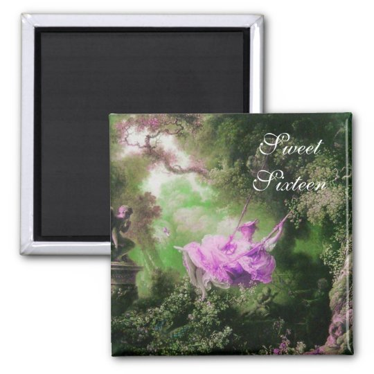 THE SWING ,SWEET SIXTEEN PARTY green purple violet Magnet