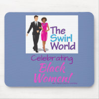 The Swirl World Logo Mouse Pad - Blue