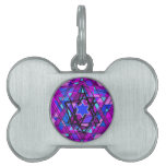 The swirling Star of David. Pet ID Tag