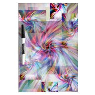The swirls. Dry-Erase whiteboard