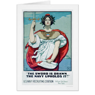 The Sword is Drawn - The Navy Upholds It (US02303) Greeting Card