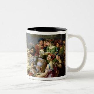 The Sword of Damocles Two-Tone Coffee Mug