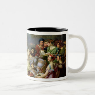 The Sword of Damocles Two-Tone Coffee Mug