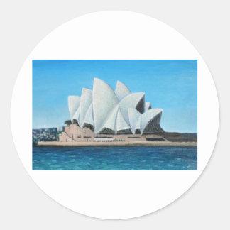 The Sydney Opera House 2 Classic Round Sticker