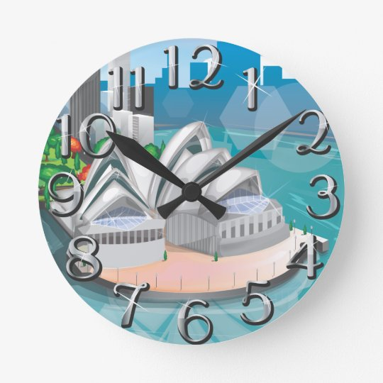 The Sydney Opera House Round Clock