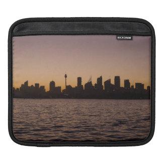 The Sydney Skyline at dusk iPad Sleeve
