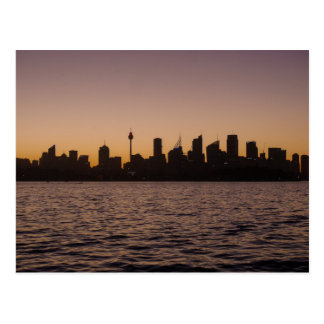 The Sydney Skyline at dusk - Postcard